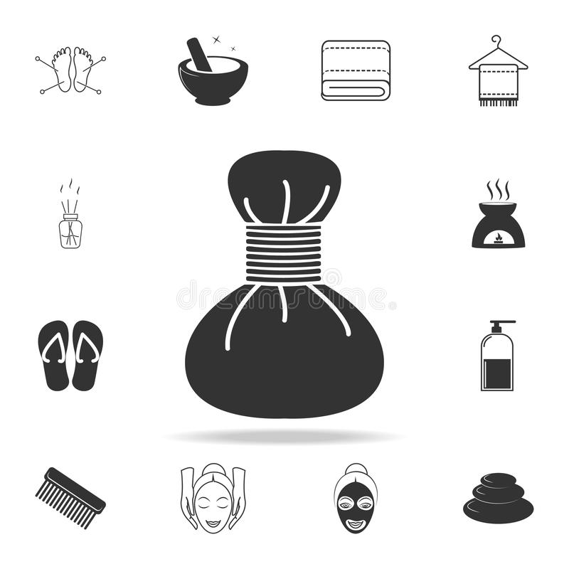 Spa hot compress icon. Detailed set of SPA icons. Premium quality graphic design. One of the collection icons for websites, web de. Sign, mobile app on white vector illustration