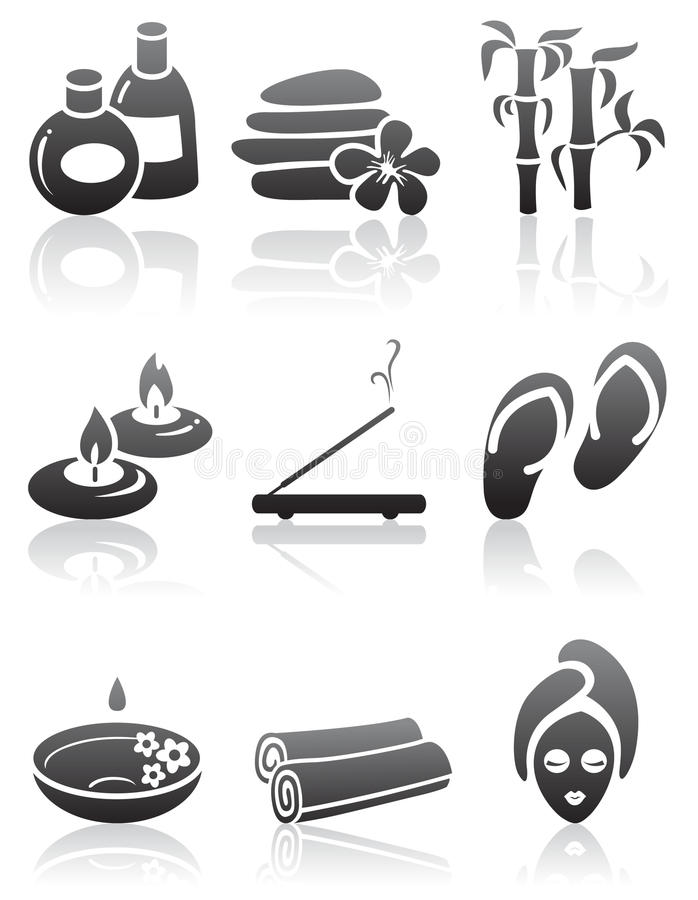 SPA Icons Stock Images