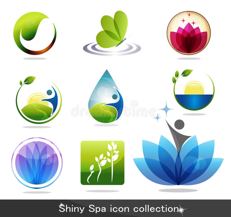 Spa icons stock illustration