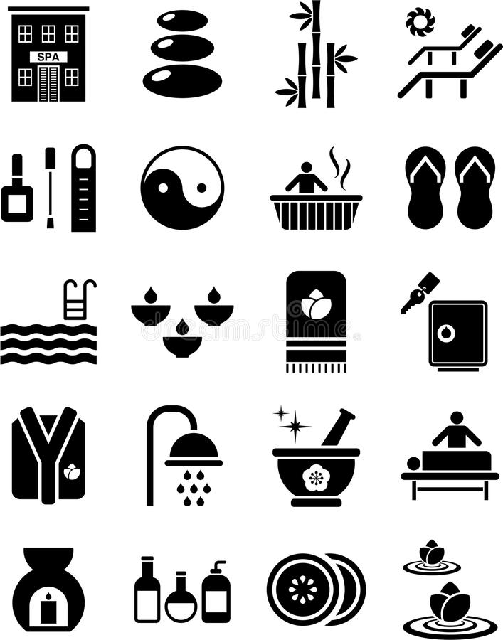 Download Spa icons stock vector. Image of beauty, massage, fashion - 27015032