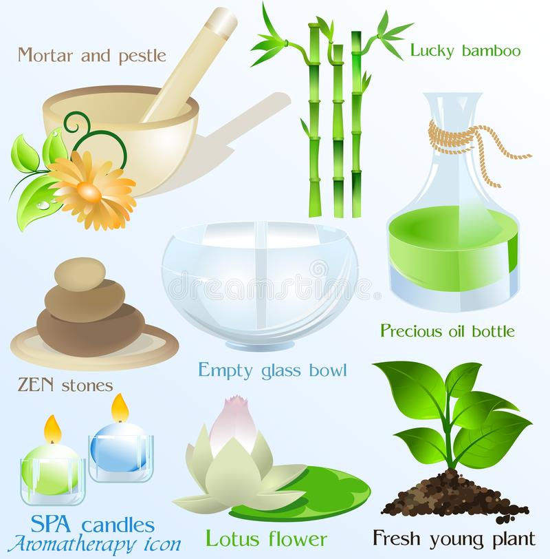 Download Spa Icons/ Objects Vector Set Stock Vector - Image: 12634890