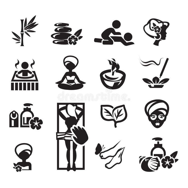 Spa icons set vector illustration