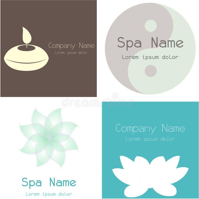 Spa icons royalty free illustration