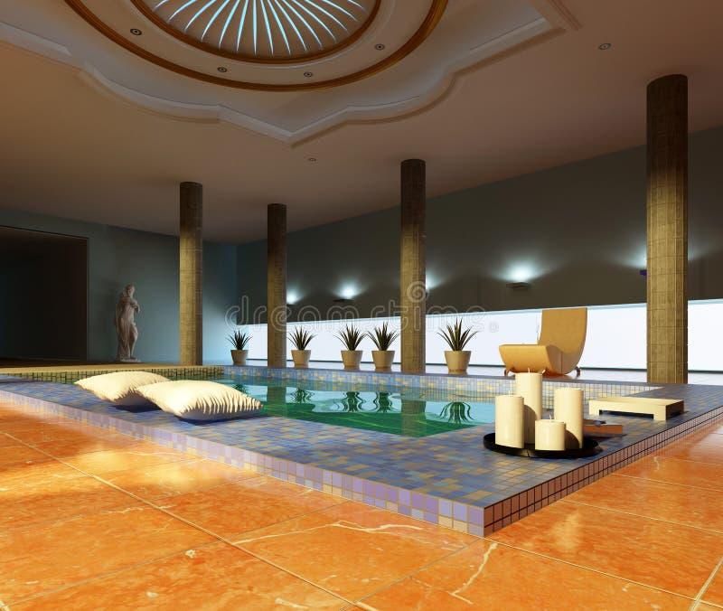 Spa interior vector illustration