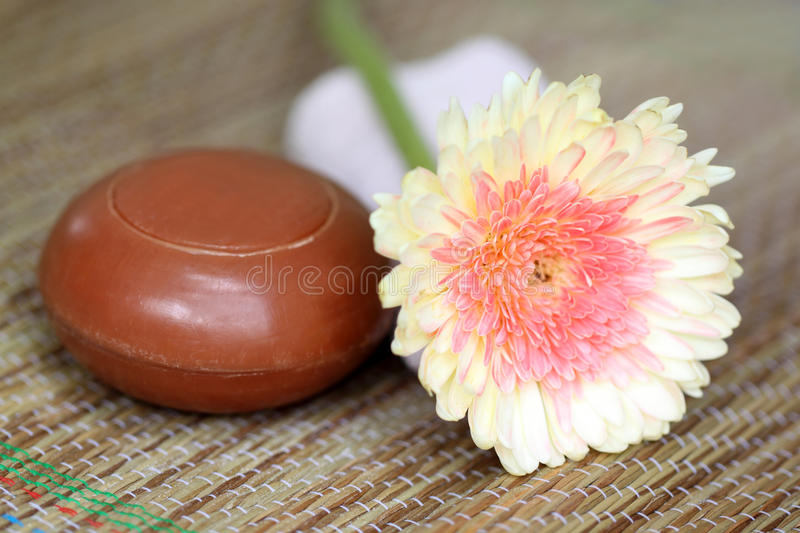 Download Spa Item with natural soap stock photo. Image of luxury - 27313520
