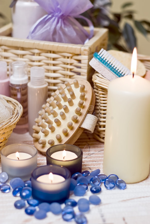 Spa items stock image
