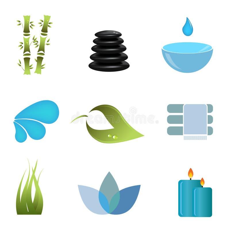 Download Spa items icon set stock vector. Illustration of lastone - 17965177