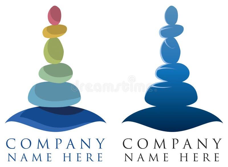 Spa kopplar av logo royaltyfri illustrationer