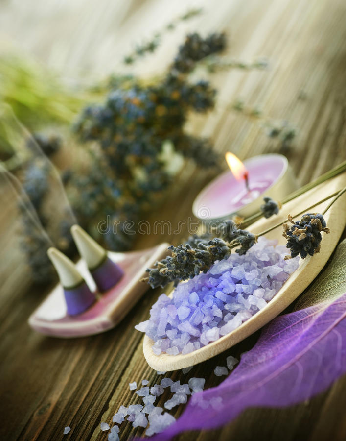 Spa.Lavender photo libre de droits