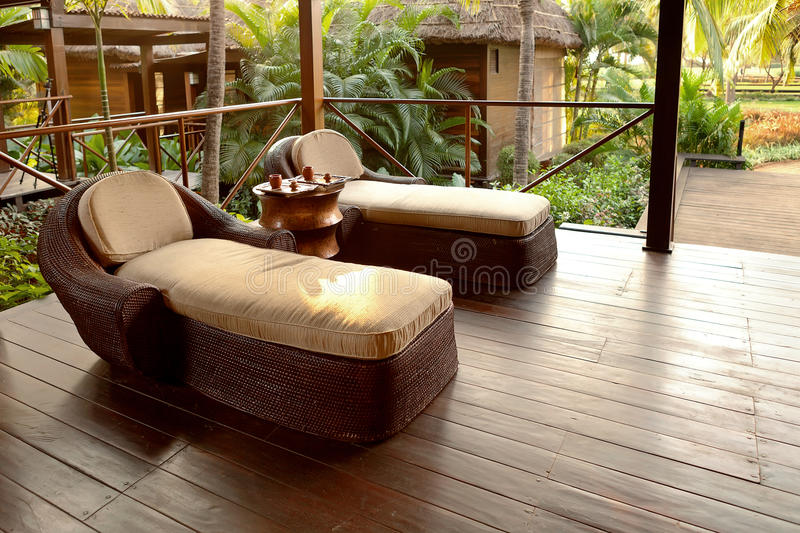 Spa lounge area for relaxation royalty free stock photo