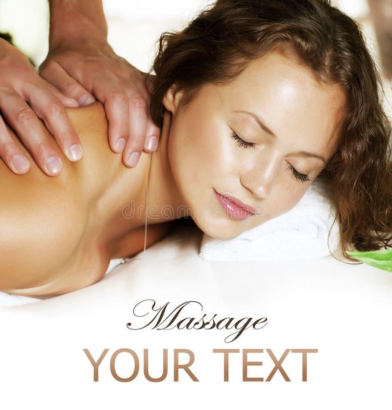 Spa Massage. Beauty Woman Getting Massage. Day-Spa