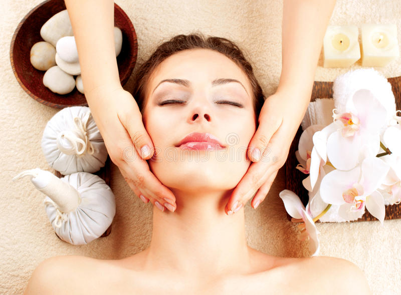 Spa Massage stock photos