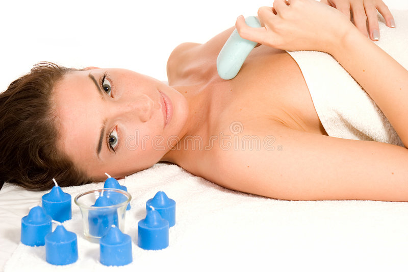Download Spa and Massage stock image. Image of lying, beauty, femininity - 3513619