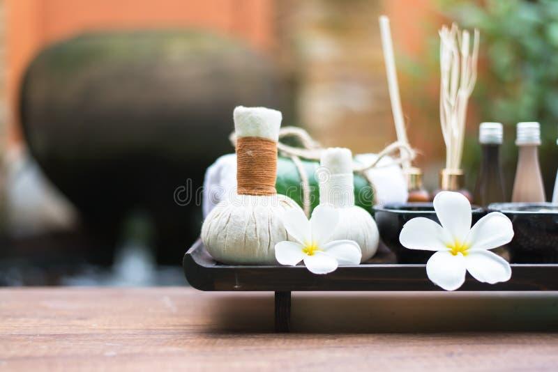 Spa massage compress balls stock images
