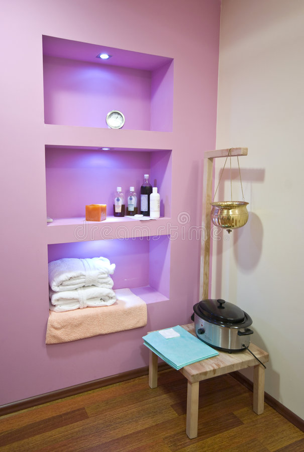 Spa and massage cosmetics stock images