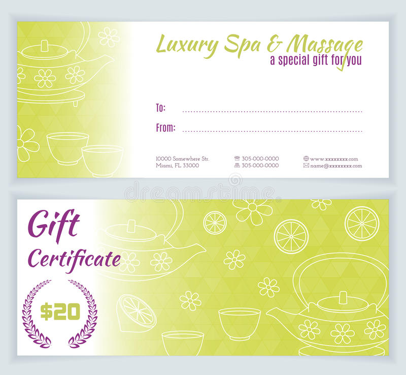 Spa massage gift certificate template stock vector image 64494335 download spa massage gift certificate template stock vector image 64494335 yadclub