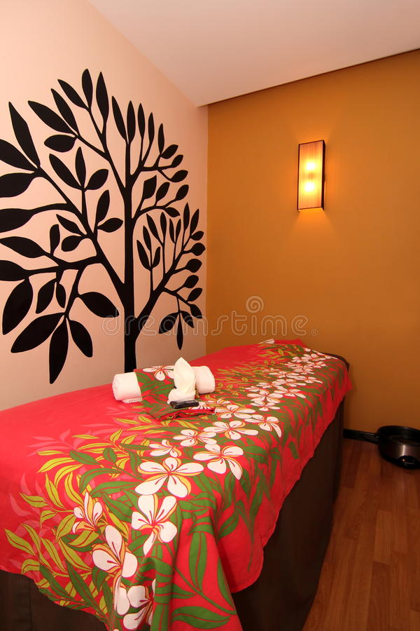 Spa Massage Room stock photography