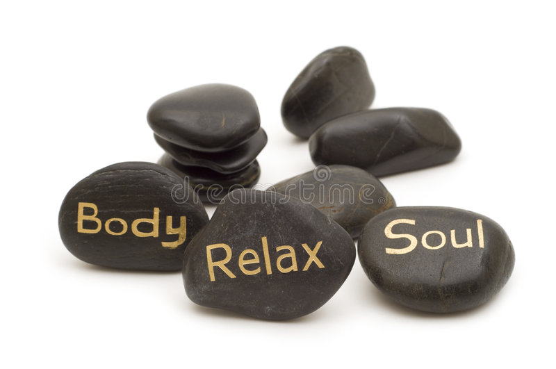 Spa massage stones stock image