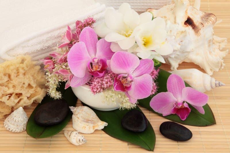 Spa massagebehandling royaltyfria foton