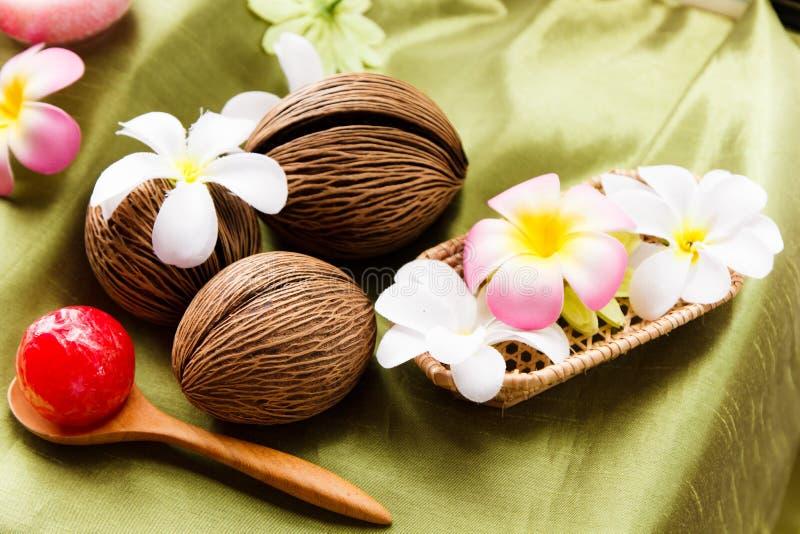 Spa massageinställning royaltyfri foto