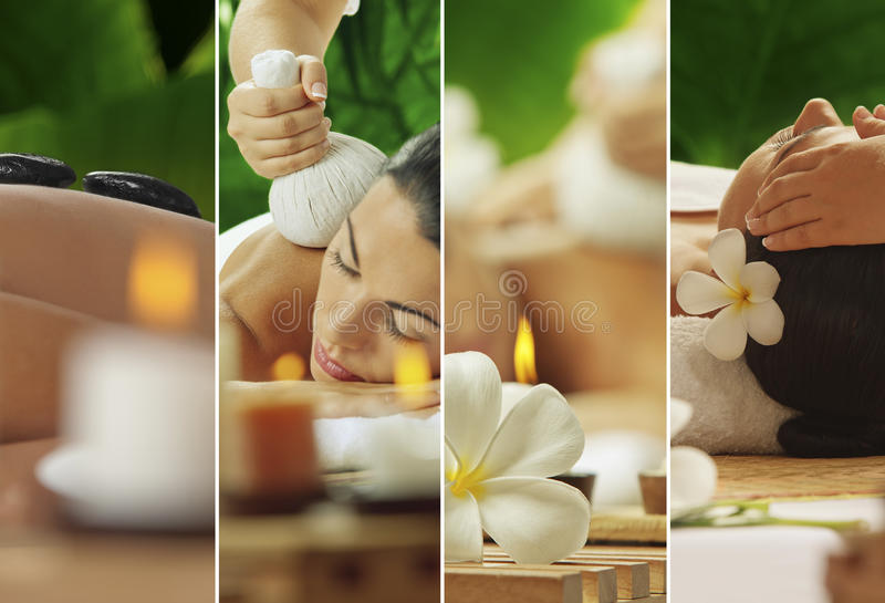 Spa mix. Spa theme photo collage composed of different images