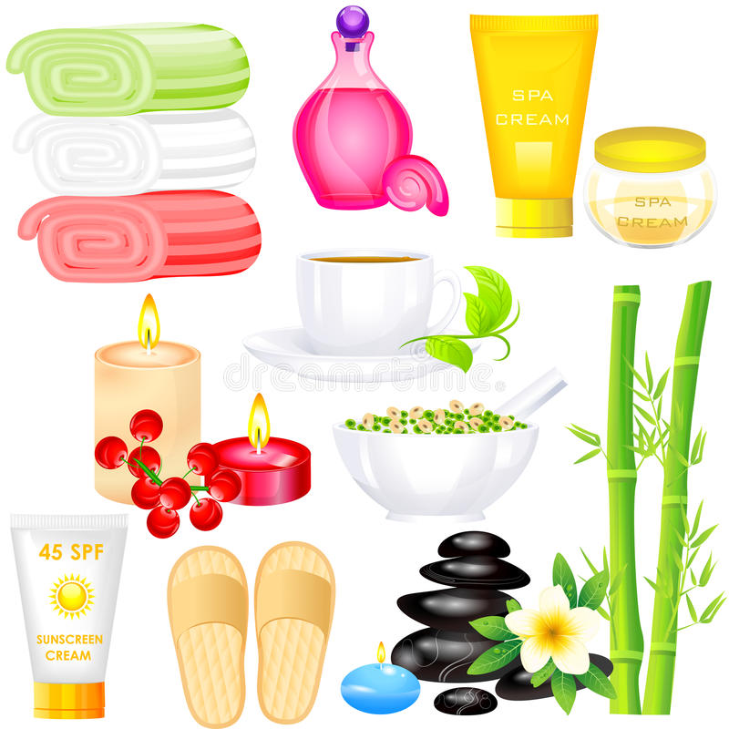 Download Spa Object stock vector. Image of massage, editable, green - 38596671