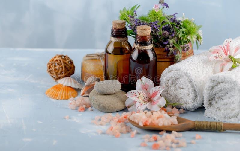 SPA och tillbehör för orientalisk massage royaltyfri fotografi