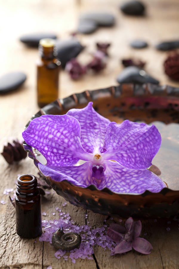 Download Spa with orchid flower stock image. Image of clean, health - 23592269