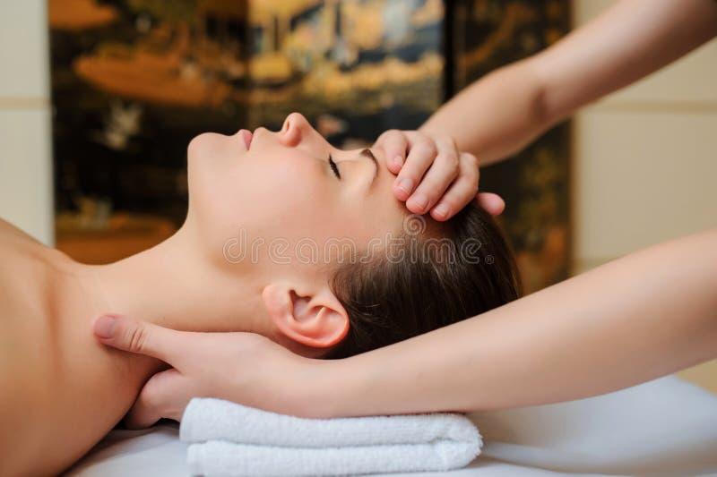 Spa procedure of neck massage royalty free stock image