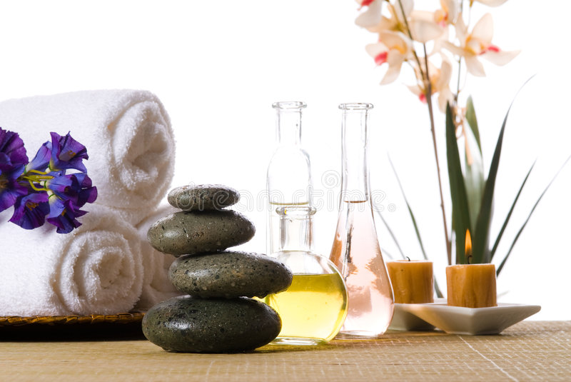 Spa products royalty free stock photo