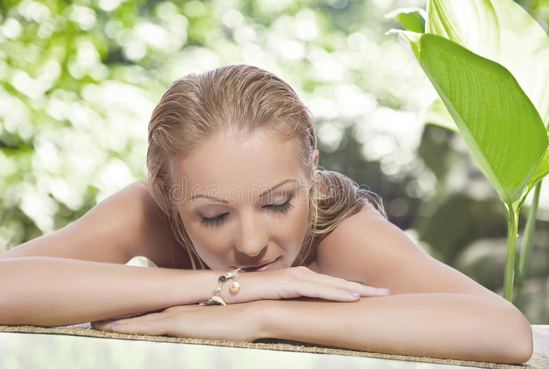 Download Spa relax stock photo. Image of flower, healthy, female - 14660664