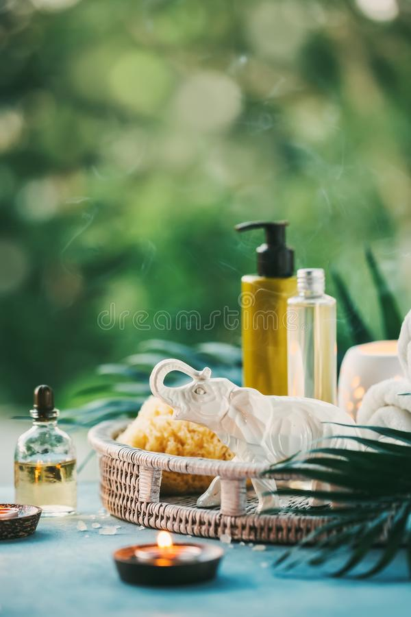 Spa Setting outdoor. stock photography