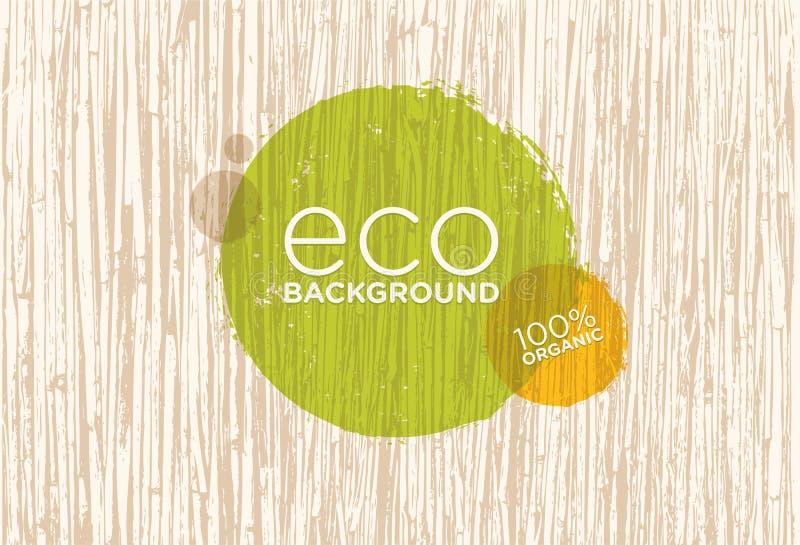Spa Retreat Organic Eco Background. Nature Friendly Vector Concept stock illustration