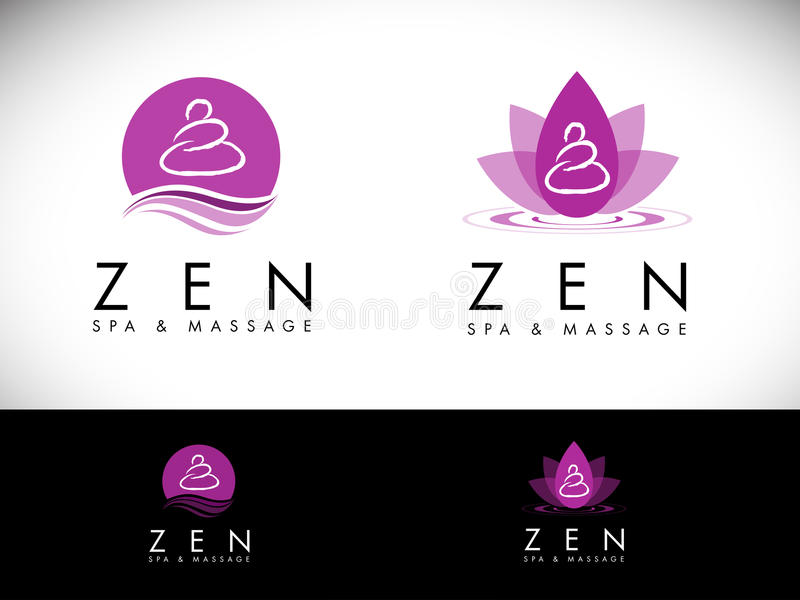 Spa salong Logo Design vektor illustrationer