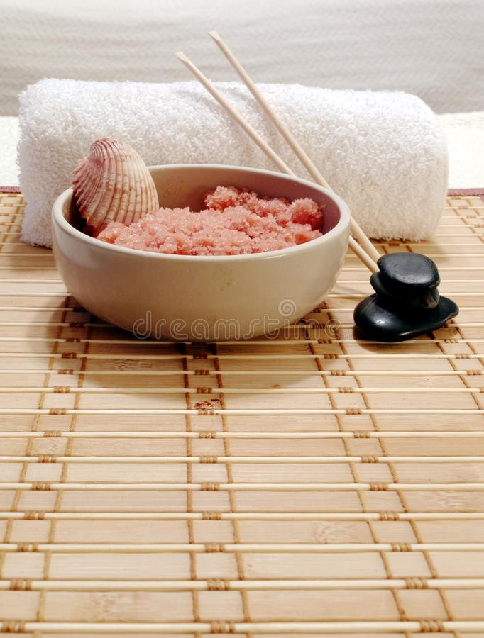 Spa Salts stock photography