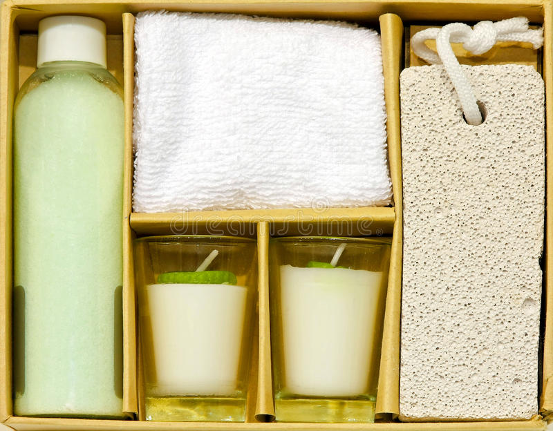 Download Spa set stock image. Image of bath, stone, salt, aroma - 18100193