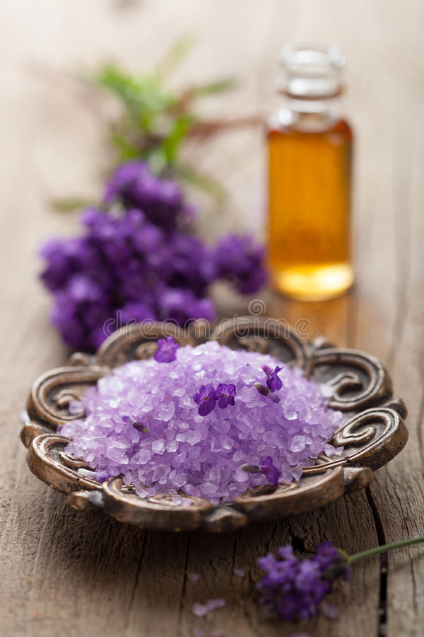 Download Spa set with lavender stock image. Image of fresh, lavender - 26539277