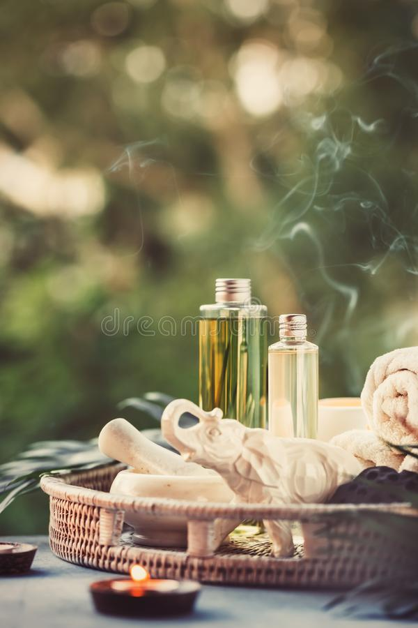 Spa Setting outdoor. royalty free stock photo