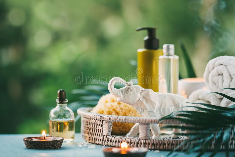 Spa Setting outdoor. stock image