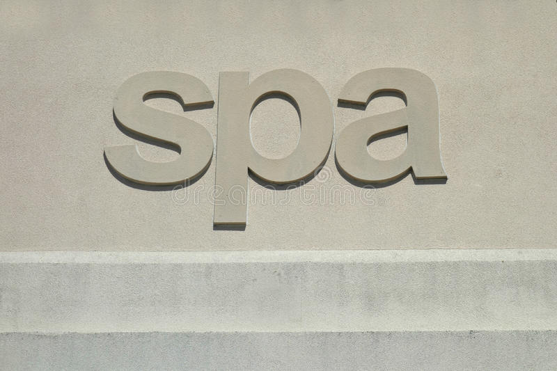Spa Sign royalty free stock images