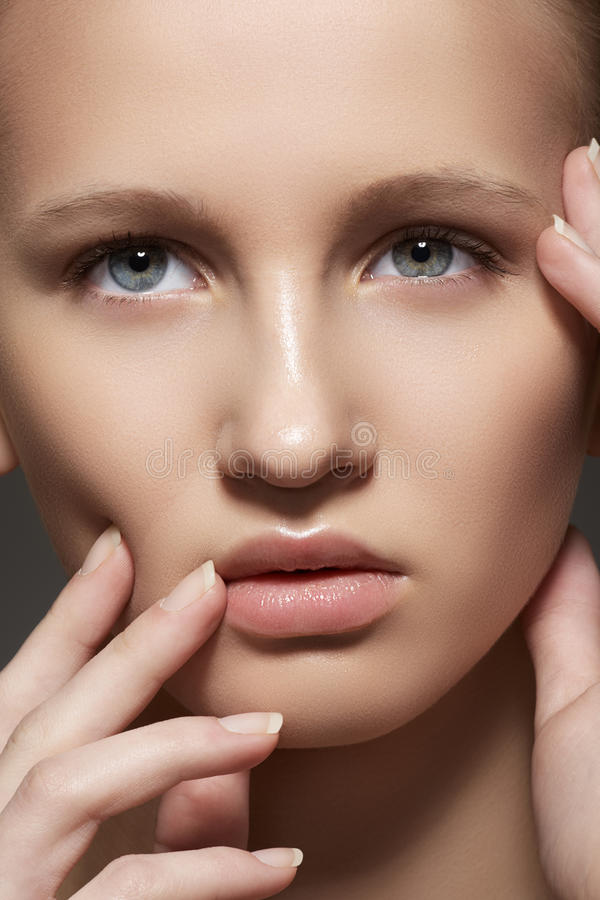 Download Spa, Skincare, Make-up. Woman Face With Clean Skin Stock Image - Image: 27082521