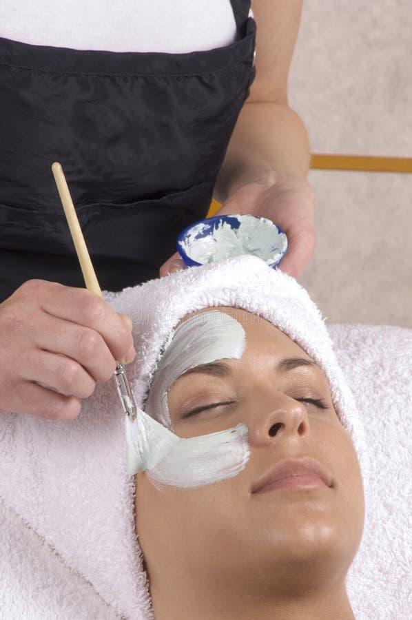 Spa Skincare Mask Application stock image