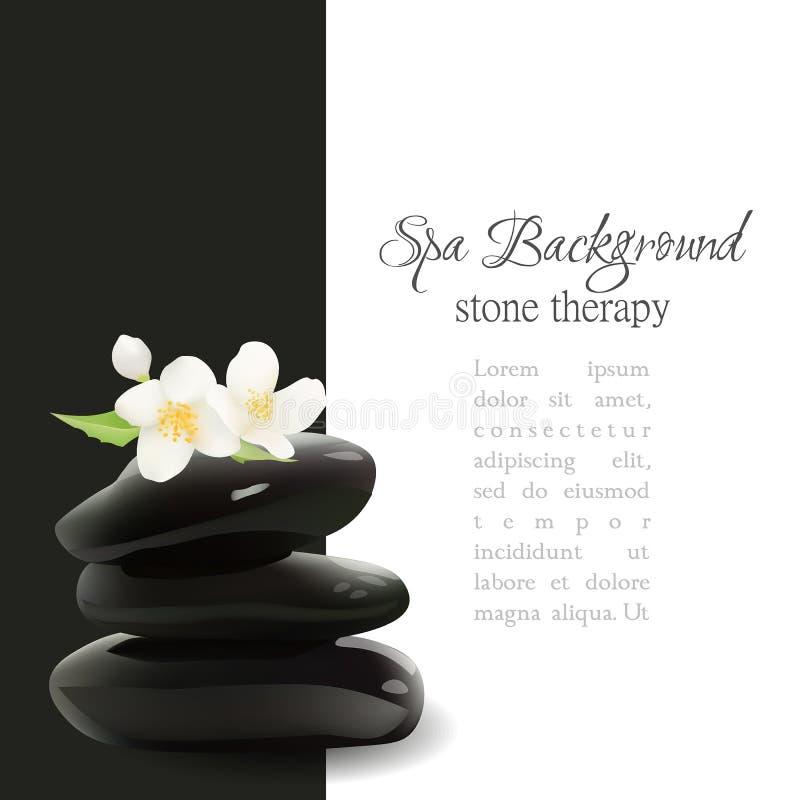 Spa stenar realistisk vektorbakgrund Isolerad vektorillustration Mallen för skönhetsmedel shoppar, den Spa salongen, skönhetsprod royaltyfri illustrationer