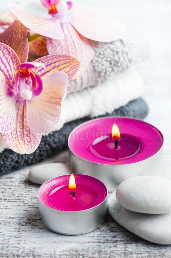Purple Spa Treatment Still Life Stock Photo Image Of
