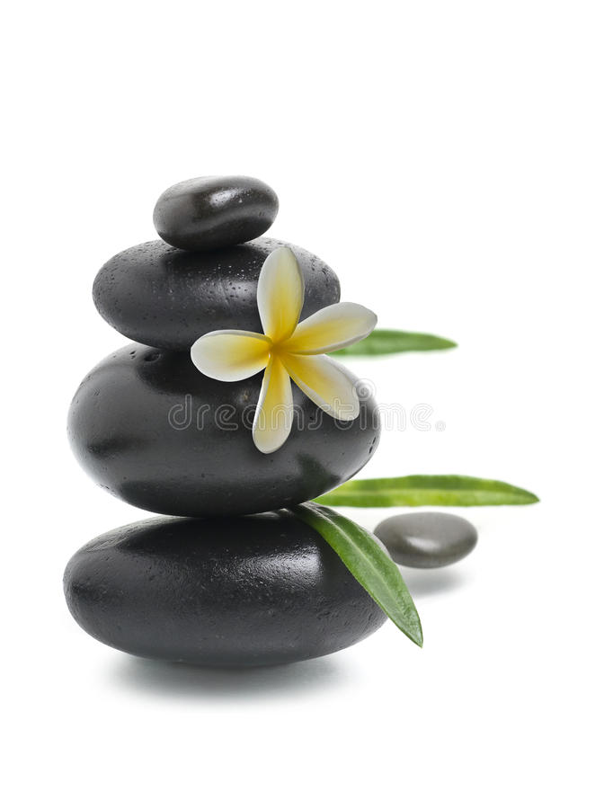 Spa still life, Stack of pebbles royalty free stock image