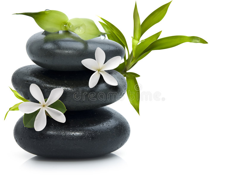 Spa still life with white flowers stock image