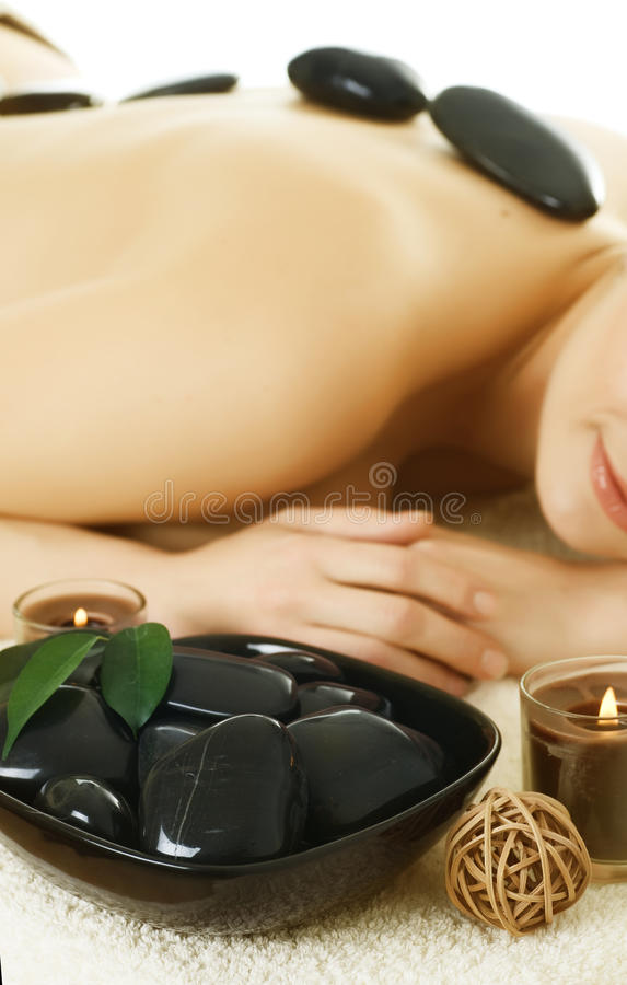 Spa. Stone-massage stock image