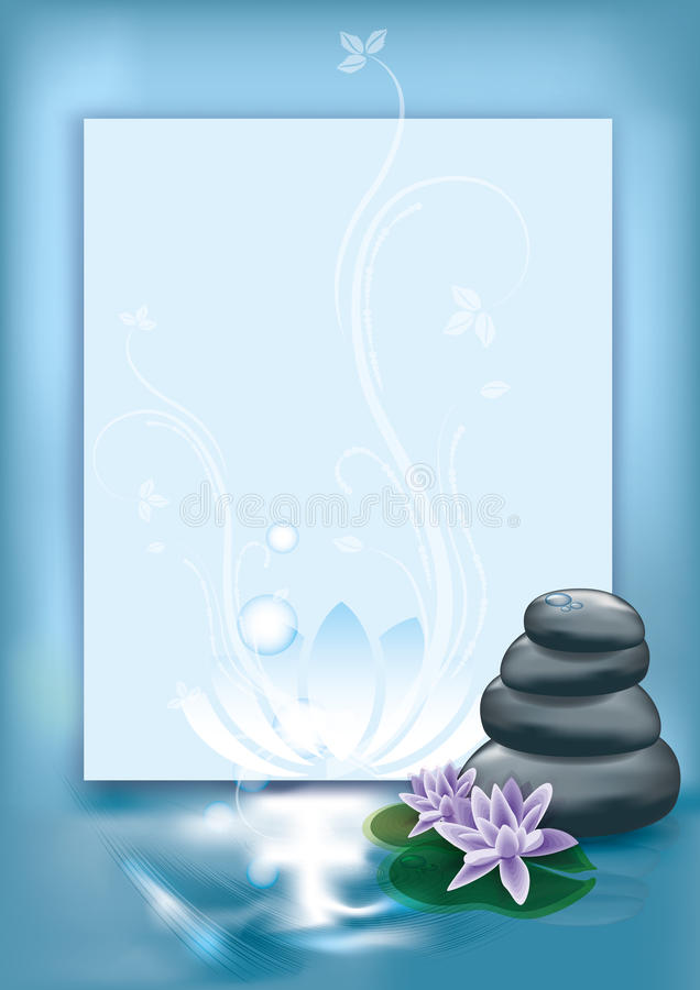Download Spa stones stock vector. Image of flowers, bubble, blossom - 14554995