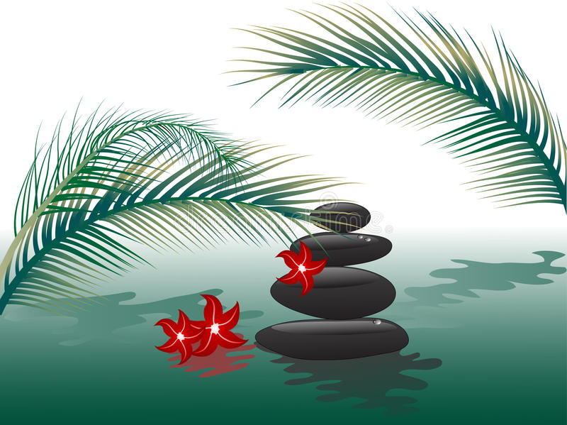 Spa stones royalty free illustration