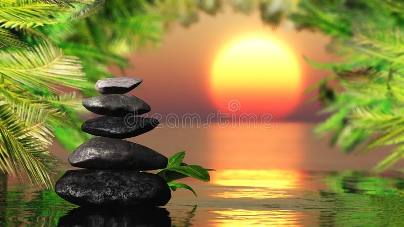 Spa stones on a background of sea stock image